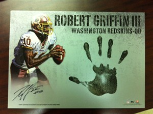 Topps Triple Threads Robert Griffin III Handprint Card