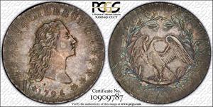 1794 $1 B-1, BB-1, PCGS AU-58