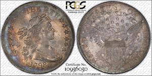 1798 $1 B-32, BB-91, PCGS MS-61
