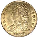 1809/8 Overdate Capped Bust $5 gold piece