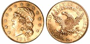 1813 $5 Half Eagle