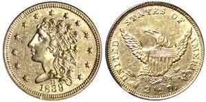 1839-D $2 1/2 gold piece