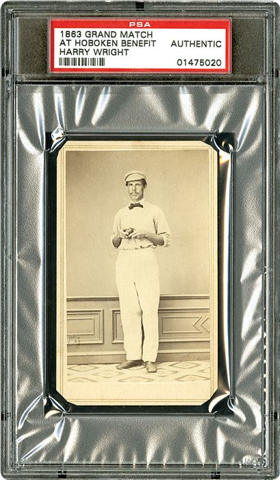 The First Baseball Card 1863 Harry Wright Coming To The