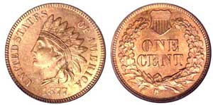 The key date in the Indian Cent series is the 1877