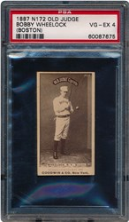 1887 N172 Old Judge Bobby Wheelock (Boston, Bat on Right Shoulder)