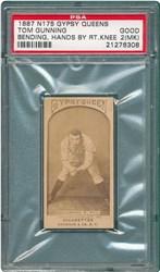 1887 N175 Gypsy Queens Tom Gunning (Bending, Hands By Right Knee)