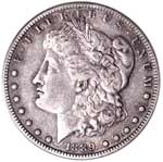A key to the series, the 1889-CC is the scarcest of the Carson City dollars