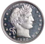 1892 Proof Barber Quarter
