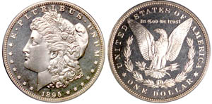 1895 Morgan Dollar PCGS PR66CAM sold at the Rarities Auction for $36,800