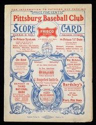 1904 'unofficial' World Series program