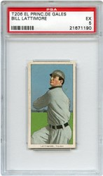 Lot 17: T206 EPDE Lattimore PSA 5