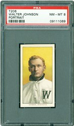 1909-1911 T206 Piedmont Walter Johnson (Portrait)
