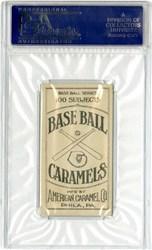 1909 E90-1 American Caramel Joe Jackson (Back)