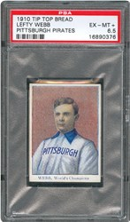 Lefty Webb 1910 Tip Topps Pirates card graded EX-MT+ 6.5 by PSA