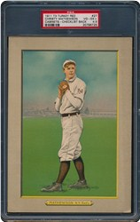 1911 Turkey Red Cabinets T3 & T9 Christy Mathewson #27 (Checklist Back)