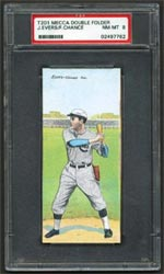 The Cubs' Johnny Evers and Frank Chance are featured on this great T201