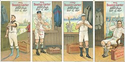 1912 Boston Garter Uncut Strip of Four Cards