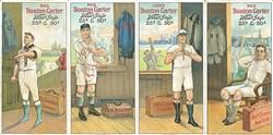 1912 Boston Garter Uncut Strip of Four Cards