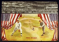 'Pittsburgh Press' 1913 'Two Stars' litho with Wagner and Lajoie