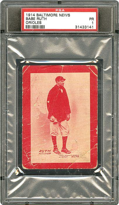 1914 Babe Ruth Rookie Card