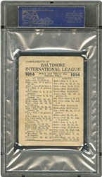 1914 Baltimore News Orioles Babe Ruth (Orioles) - Back