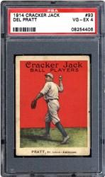 1914 Cracker Jack Del Pratt #93