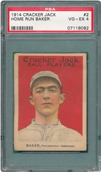 1914 Cracker Jack Home Run Baker #2
