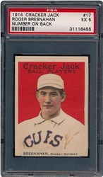 1914 Cracker Jack Roger Bresnahan #17 (Number on Back)