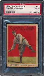 1914 Cracker Jack Walter Johnson #57