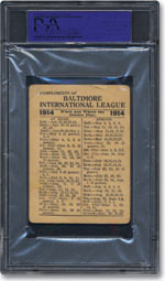 1914 Babe Ruth (Back)