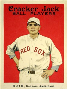 At the 2013 National, PSA will display $2 million of historic 1914 and 1915 Cracker Jack Cards and the original artwork of how a Cracker Jack Babe Ruth rookie card may have looked. (Photo courtesy of PSA.)