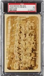 1915 Boston Red Sox Postcard Team Photo w/Babe Ruth