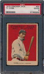 1915 Cracker Jack Ty Cobb #30