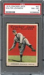 1915 Cracker Jack Walter Johnson #57