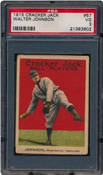 1915 Cracker Jack Walter Johnson #57