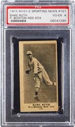 1915 M101-5 Sporting News Babe Ruth #151 (P.-Boston Red Sox)