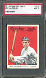 The PSA 7 market is strong as evidenced by the $16,675 final bid for this Jackson card