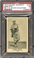 1917 Collins-McCarthy Babe Ruth #147 (Blank Back)