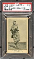 1917 Collins-McCarthy Babe Ruth #147 (Blank Back)