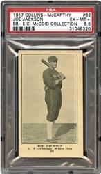 1917 Collins-McCarthy Joe Jackson #82 (Blank Back)