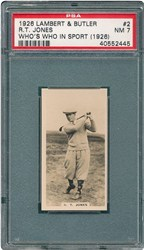 1926 Lambert & Butler Who's Who in Sport (1926) R.T. Jones #2