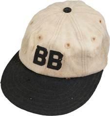 1927-28 Babe Ruth Game Worn ''Bustin' Babes'' Barnstorming Cap