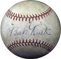 1927 Babe Ruth Single-Signed Baseball