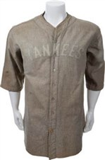 Lou Gehrig's 1927-28 New York Yankees Game Worn Jersey