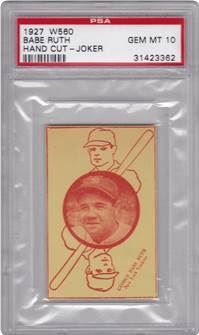 1927 W560 Hand Cut Babe Ruth (Joker)