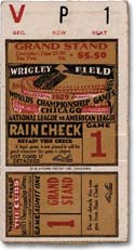 1929 World Series ticket: Philadelphia Athletics vs. Chicago Cubs.  The A's won.