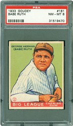 1933 Goudey Babe Ruth #181