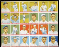 1933 Goudey Final Production Sheet
