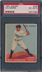 1933 Goudey Lou Gehrig #160