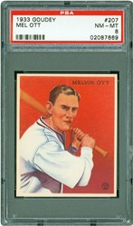 1933 Goudey Mel Ott #207